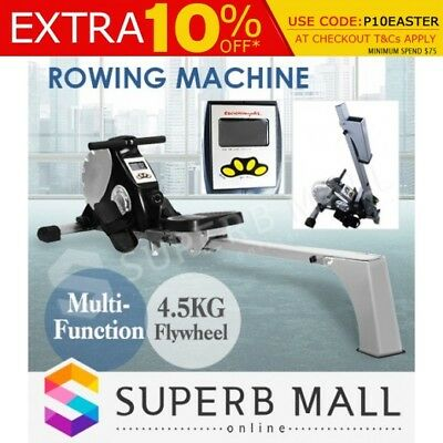 Exercise Rowing Machine Flywheel Gym Power Rower Resistance Fitness Magnetic