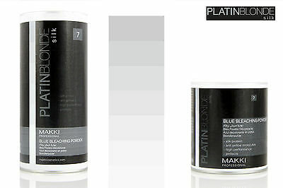Platin Blonde Blue Hair Bleach Bleaching Lightening Powder Silk Pro+ Anti Yellow