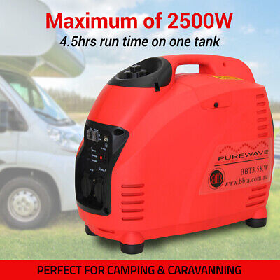 NEW BBT INVERTER GENERATOR 2500W Max 2200W Rated - Portable Camping Pure