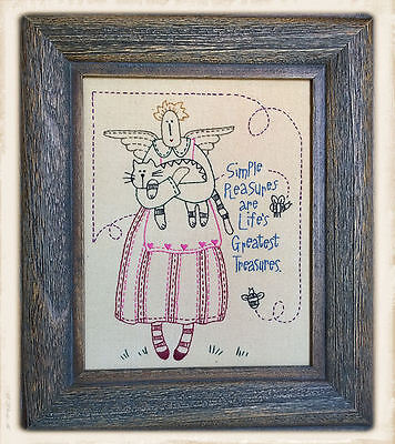FRAMED PRiMiTiVE STiTCHERY by Bronwyn Hayes || SiMPLE PLEASURES