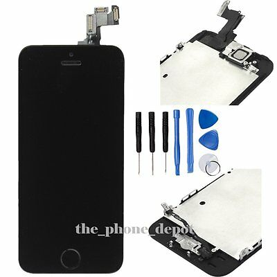 LCD Touch Screen Display Digitizer Assembly Replacement For iPhone 5S BLACK UK