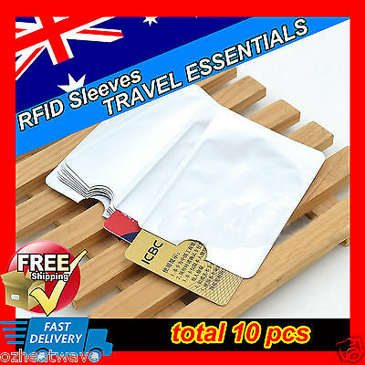 10x RFID SHIELD BLOCKING CARD IDENTITY THEFT PROTECTOR ANTI SCAN SKIM SLEEVE