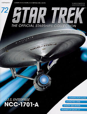Star Trek Official Starships Collection Issue #72 USS Enterprise NCC-1701-A