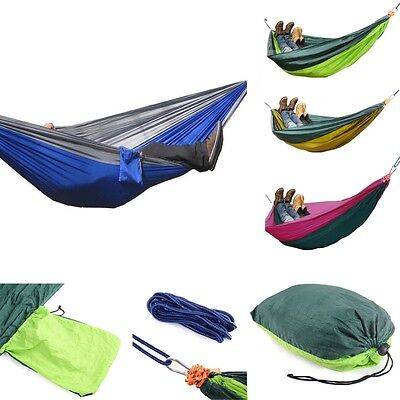 Double Person Outdoor Parachute Nylon Fabric Hammock Travel Camping Sleeping Bag