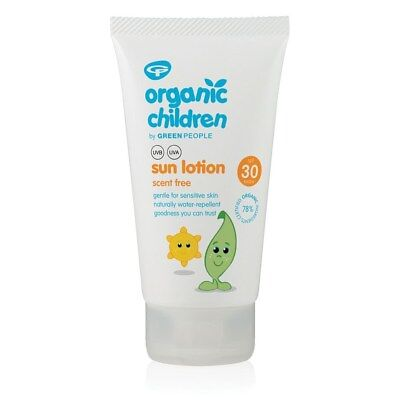 Green People Organic Children Sun Lotion SPF30 – Scent Free 150ml
