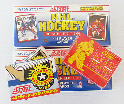 1990-91 Score Hockey Factory Sets (2), Young Superstars Sets (2) +Rookie Traded