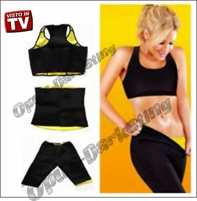 Completo Sport Fitness Palestra Pantalone Fascia Top Hot Shapers Dieta Joggins