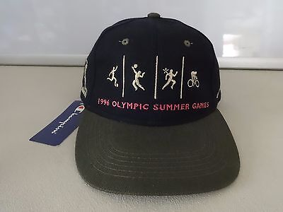 NWT Old Stock Vintage 1996 Olympic Games Atlanta Adj Mens Ball Cap OSFA Champion