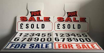 Car For Sale Signs Sun Visor Hanging Price Units Self Cling Window Stickers x 2