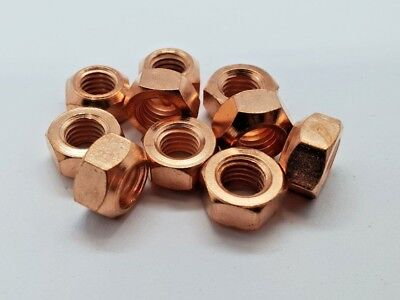 10 X M10 Copper Flashed Exhaust Manifold Nut 10Mm Nuts High Temp