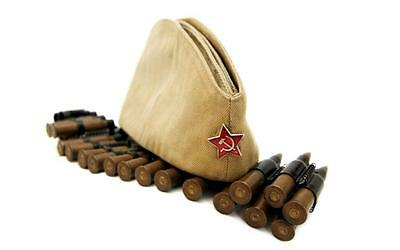 USSR Russian Military Garrison cap field forage WW2 hat PILOTKA Red Star RKKA