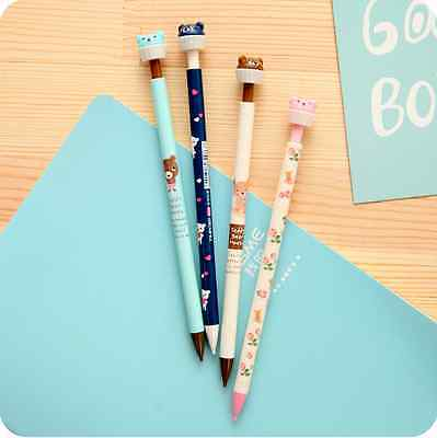 4pcs-0.5mm Lovely Cartoon Bears Mechanical Pencils Kids Stationery Gift ZXB61A