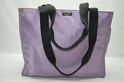 Kate Spade New York Lilac Microfiber Large Baby Diaper Tote Bag Travel Shopper