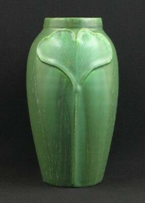 Gingko Cabinet Vase by Door Pottery in Cucumber Green