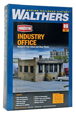 4020 Walthers Cornerstone Transfer Yard Industry Office HO Scale Kit