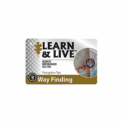 Ultimate Survival Technologies Learn & Live Way Finding Cards Pocket Reference