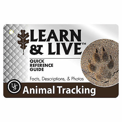Ultimate Survival Technologies Learn & Live Animal Tracking Cards Pocket Guide