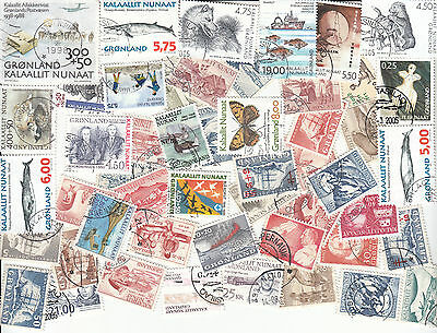 50 Greenland Recent Commemoratives/large/pictorials Kiloware All Different