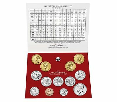 2016 D US Mint Uncirculated Coin Set 13 Coins DENVER Mint w/ COA
