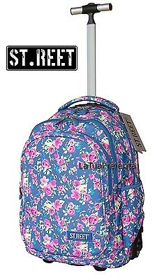 ST.REET Grande zaino TROLLEY FLOWERS TWO originale Ragazza  ,scuola media