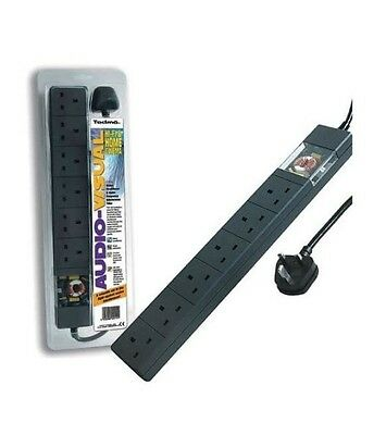 Tacima CS947 - 6 Way UK Mains Conditioner Surge Protection Filter EXTENSION LEAD