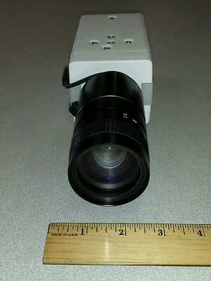 Ikegami ICD-47E Television CCD Camera w/ ComputarTV Zoom Lens H6Z0812A1VD 8-48mm