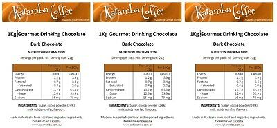 Hot Chocolate 1Kg, 24% cocoa, DARK Chocolate, Highest Quality