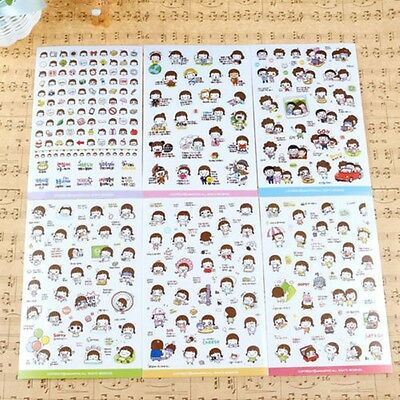 6Pcs Album Scrapbooking Stickers Korean Girl Momoi Diary Planner Stickers CA