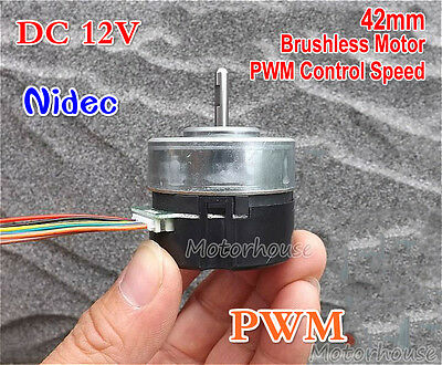 NIDEC DC 12V 4800RPM Brushless Motor PWM Speed Control CW/CCW Emergency Stop