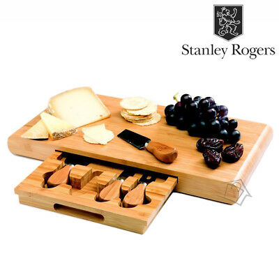 NEW Stanley Rogers Bamboo Cheese Board Set  5pc (5 pieces) Knives Tools Wooden