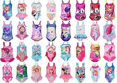 Girls Kids Character Swimwear Swimming Costume Swimsuit Bikini age 1,5-12 years