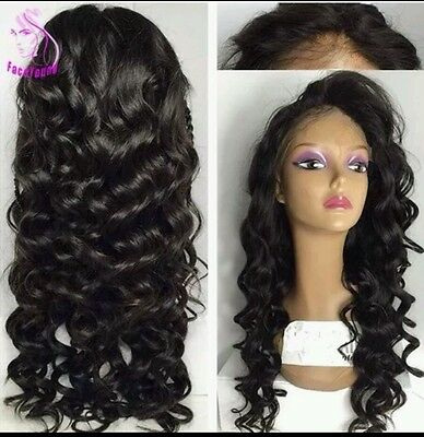 Brazilian Curly Human Hair Full Lace Wig 20' New