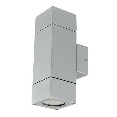 Prairie Up/Down Exterior Wall Light GU10 Silver Brilliant Lighting 17952/11
