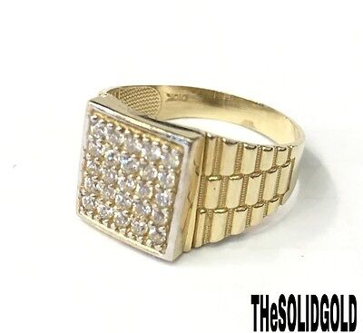 New Mens 10K Yellow Gold President Hip Hop Style Ring