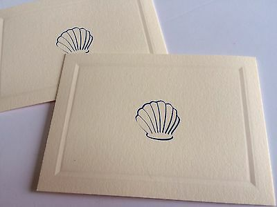 Gift Card/Enclosures/Place Cards With Envelopes Embellished With Navy Shell