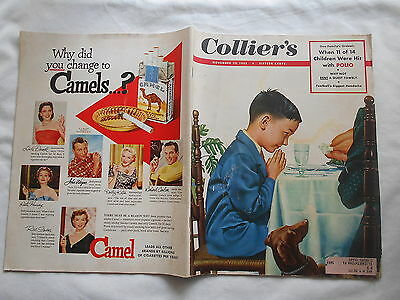 Collier's Vintage Magazine-November 29,1952-1953 2 Page Plymouth Color Car Ad-++