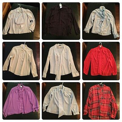 Vintage Button Down Shirts Lot Size S-XXL