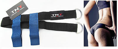 GLUTE Blue Foot Strap, Butt toning and firming, Gym cable attachment & Home use