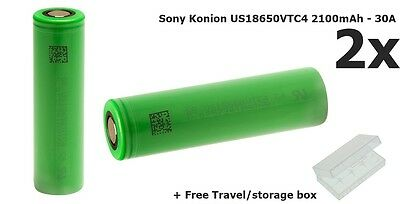 2x Sony Konion US18650VTC4 2100mAh 18650 Li-ion NK076 GB