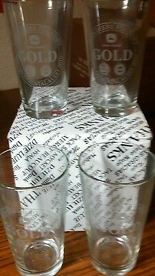 JOHN DEERE Set of 4 glass  in Thank You gift box - NICE $ NEW