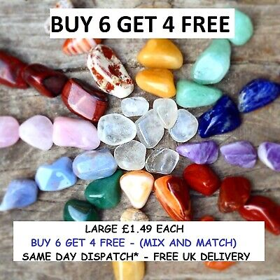 Healing Crystal Gemstones Large 16-26mm Reiki Chakra buy 6 get 4 FREE