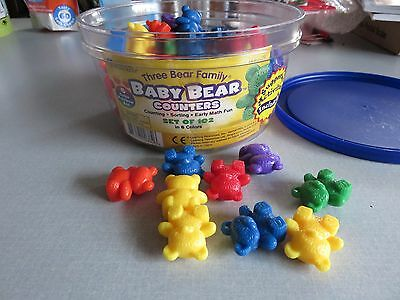 Learning Resources Baby Bear Counters in 6 colors math center