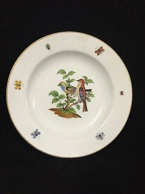 19th Century Meissen Porcelain Hand Painted Antique China Plate
