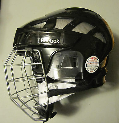 Reebok 7K SR Hockey Helmet with Cage Combo! Brand New, S M L Black Facemask
