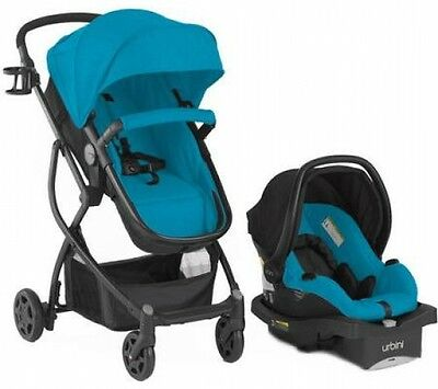 Baby Stroller Carriage Car Seat 3 in 1 Travel System Infant Buggy Bassinet Blue