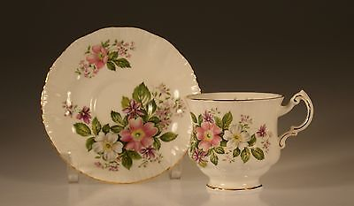 """Paragon """"Flower Festival Series"""" Pink and White Clematis Cup and Saucer, England"""