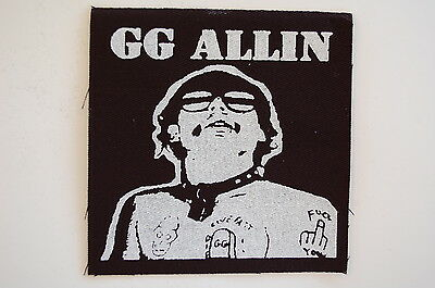 "GG Allin Patch Sew On Badge Punk Rock Music GBH Adicts JFA Approx 4""X4"" (CP239)"