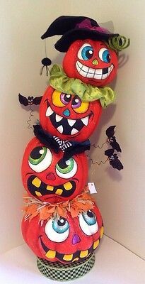 """Katherine's Collection 48"""" Candy Halloween Pumpkin Stack Tabletop"""