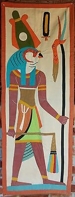 Antique Egyptian Handmade Appliqued Textile Wall Hanging...