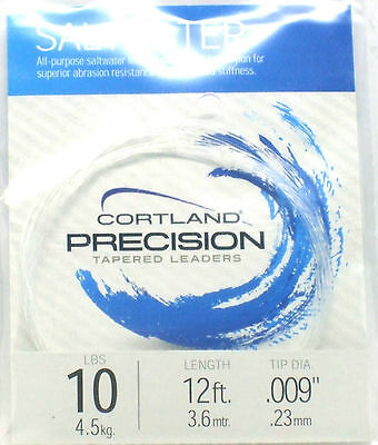 Cortland Precision 10lb Tapered Leader Fly Fishing Line BRAND NEW